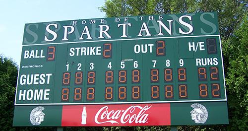 baseball scoreboard winooski