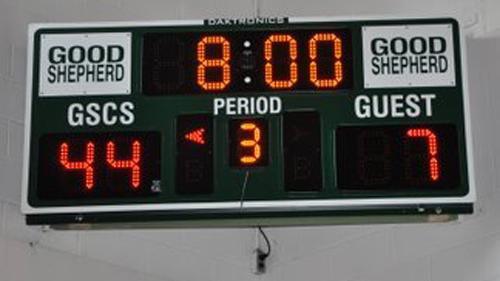 basketball scoreboard good shepherd