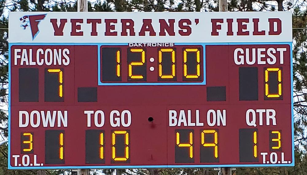 daktronics football scoreboard ncuhs