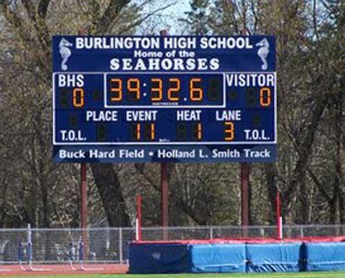 football scoreboard burlington seahorses