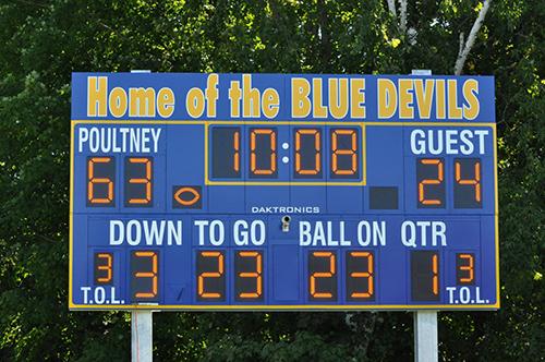 football scoreboard poultney blue devils