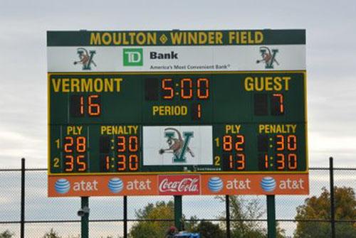 multi-sport scoreboard uvm
