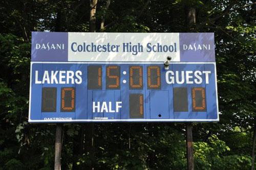 soccer scoreboard colchester lakers