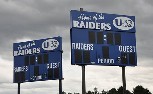 soccer scoreboard u-32 raiders