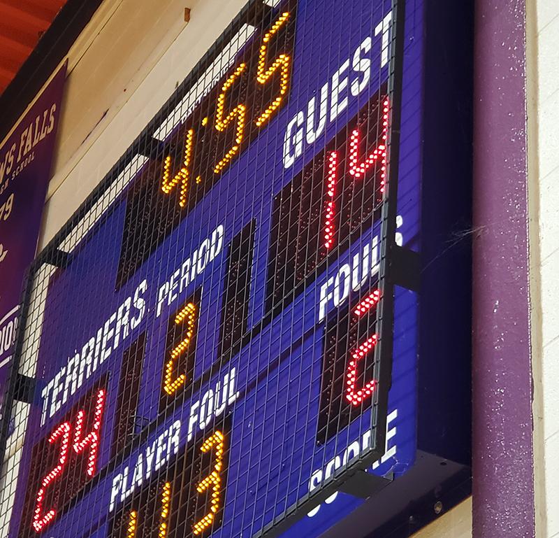 basketball scoreboard BB-2103 protective screen